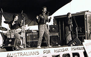 The Delltones - The Delltones performing at the Anti Nuclear Rally