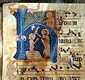 Antifonario III della collegiata di guardiagrele, xiv secolo 03 battesimo di cristo.jpg