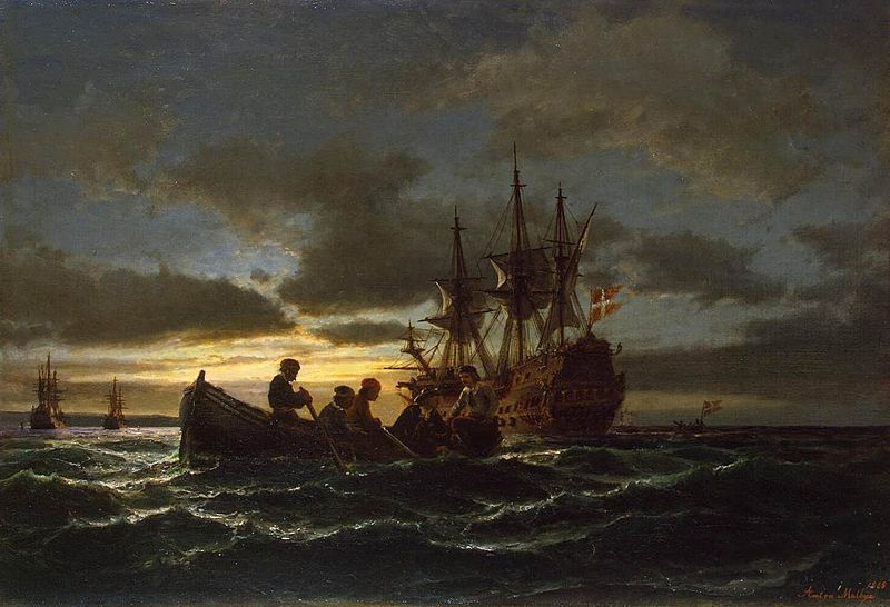 File:Anton Melbye (painter) - Sea at Night - WGA14749.jpg