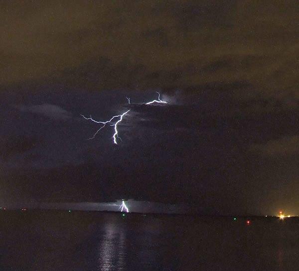 Anvil-to-ground lightning