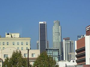 Aon Center (Los Angeles) - Image: Aon Center Skyline