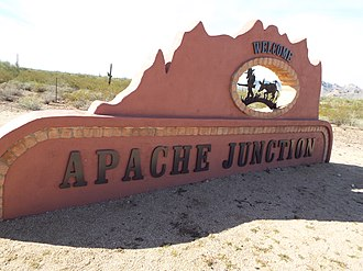 Apache Junction, Arizona - Welcome to Apache Junction Marker