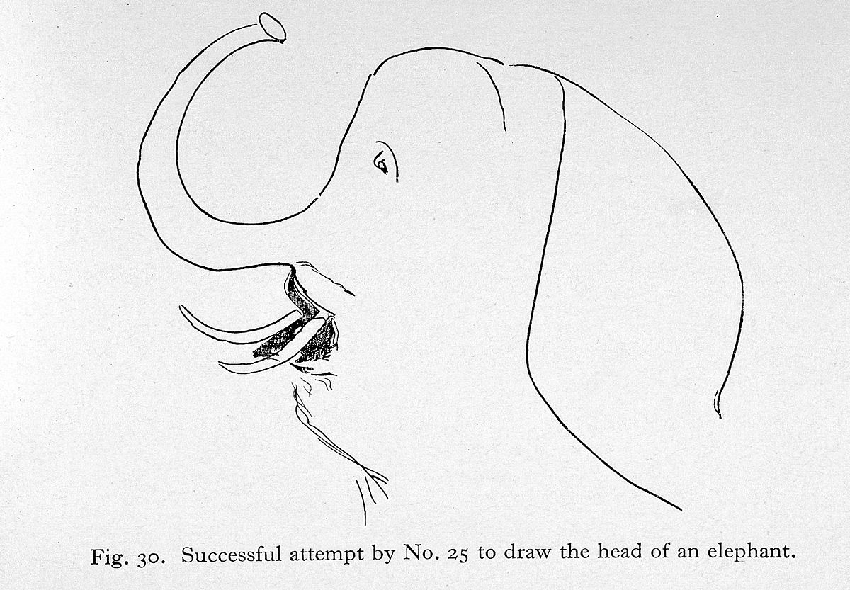 File Aphasia Successful Attempt To Draw Elephant Wellcome