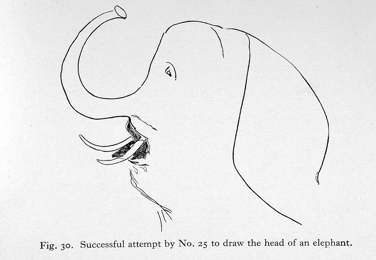 File:aphasia, Successful Attempt To Draw Elephant Wellcome L0023681g