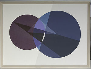 "Crockett Johnson - ""Polar Line of a Point and a Circle (Apollonius)"""