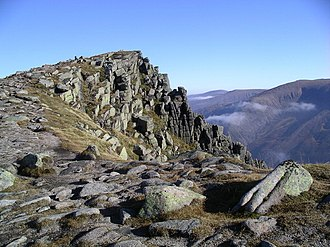 Cairngorms - Sgor Gaoith (1118 m). Cairn Gorm (1245 m) can be seen to the right.