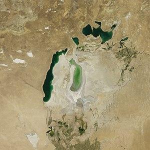 Aralsee aus der Satellitenperspektive im September 2011