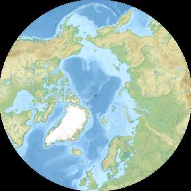 (Voir situation sur carte: océan Arctique)