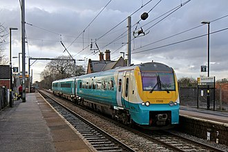 Newton-le-Willows railway station - Image: Arriva Trains Wales Class 175, 175105, Newton Le Willows railway station (geograph 3818406)