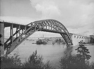 Årstabroarna - Image: Arstabron 1930