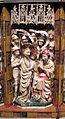 Artista inglese, forse di nottingham, trittico con storie della passione, 1350-1400 ca., alabastro, legno e vetri 03.JPG