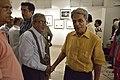 Asit Kumar Ray Shakes Hands with Nrisingha Prasad Bhaduri - Group Exhibition - PAD - Kolkata 2016-07-29 5380.JPG