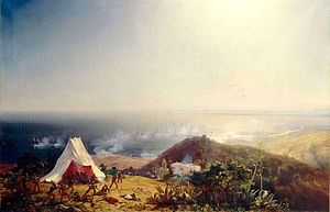 Invasion of Algiers in 1830 - Attack of Algiers from the sea, on 29 June 1830, by Théodore Gudin.