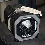 Attitude Indicator, Lear Siegler, Inc. - Oregon Air and Space Museum - Eugene, Oregon - DSC09751.jpg