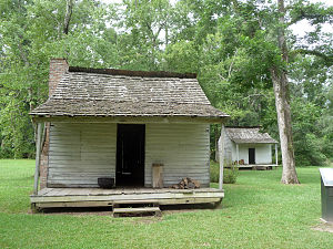 Audubon State Historic Site - Slave cabins at the site.