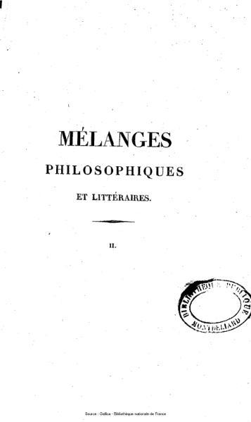 File:Auger - Mélanges philosophiques et littéraires, tome 2.djvu
