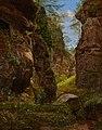 August Heinrich - Felsenschlucht im Uttewalder Grund in der Sächsischen Schweiz - 2520 - Österreichische Galerie Belvedere.jpg