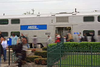 Metra - A Nippon Sharyo gallery car, built in the early 2000s
