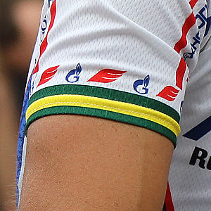 National road cycling championships - The armband of the Australian National Champion, as worn by Robbie McEwen as part of his Team Katusha jersey