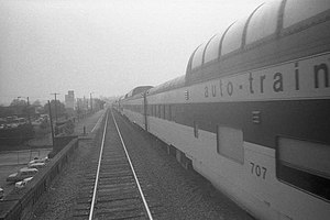 "Auto-Train Corporation - Auto-Train 707, a ""Maxi-Dome"" coach, in 1978"