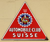 Automobile-Club de Suisse, Enamel advert sign at the den hartog ford museum pic-002.JPG