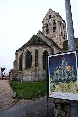 Auvers sur Oise Eglise Tableau
