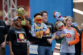 Avenue Q - Avenue Q cast performing at Broadway on Broadway with the puppets.