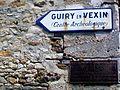 Avernes (95), plaques obsolètes, rue de l'Audiance.jpg