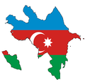 Azerbaijan flag map without Karabakh.png