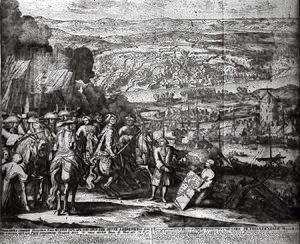 Azov - A 17th-century Dutch engraving representing the Battle of Azov (1696)