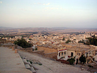 British airborne operations in North Africa - Panoramic view of Béja.