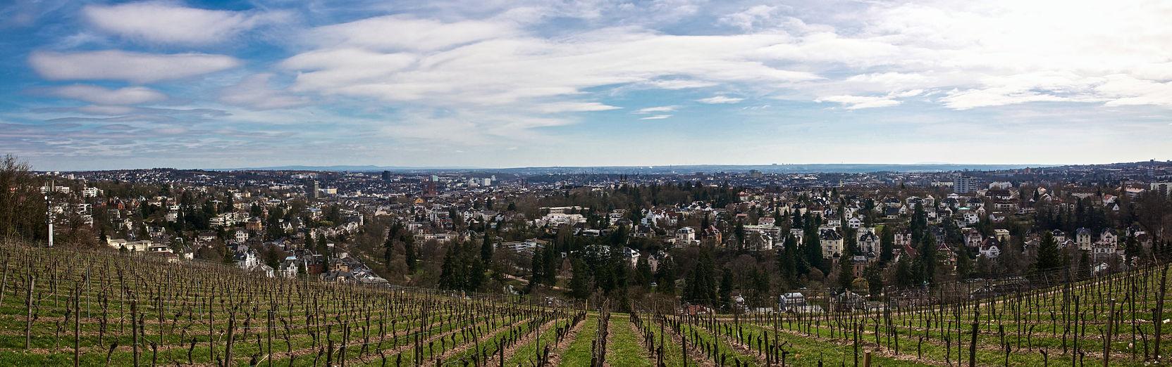 Panorama over Wiesbaden fra Neroberg.