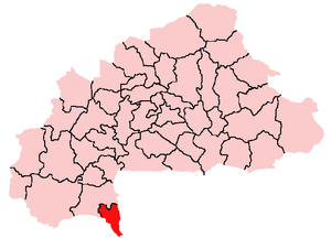 Location in Burkina Faso