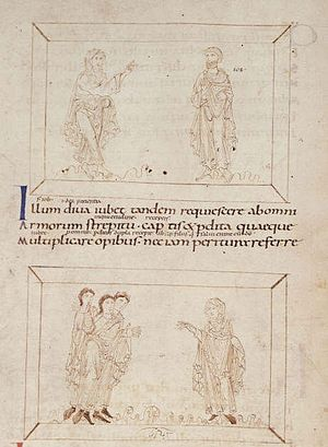 Psychomachia - British Library, MS Add. 24199, part 1, 10th century