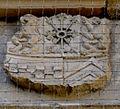 Bad Bergzabern Schlosshof Erläuterungstafel zur Uhr Detail Wappen 3.jpg
