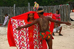 Indigenous peoples in Colombia - Image: Baile de cortejo Wayuu