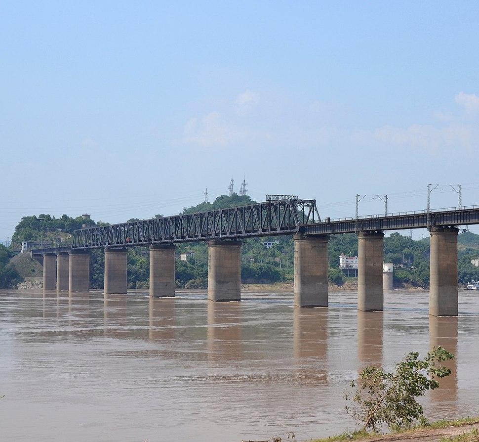 Baishatuo Yangtze River Railway Bridge.JPG
