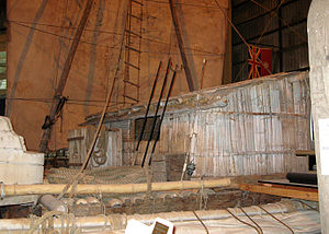 Vital Alsar Pacific raft expeditions - Exhibit of the surviving raft at the Ballina Naval and Maritime Museum, in Ballina, New South Wales.