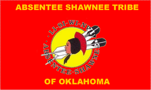 Absentee-Shawnee Tribe of Indians - official tribal flag