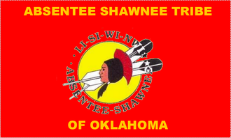 Absentee Shawnee Tribe of Indians - official tribal flag