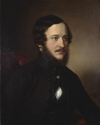 József Eötvös - Portrait of József Eötvös  by Miklós Barabás