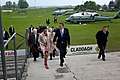 Barack and Michelle Obama arrive in Moneygall.jpg