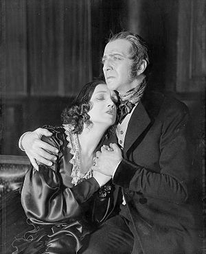 Charles Waldron - Katharine Cornell and Charles Waldron in the original Broadway production of The Barretts of Wimpole Street (1931)