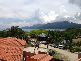 San Juan, Batangas - View of Tayabas Bay and the Lobo Mountain Range