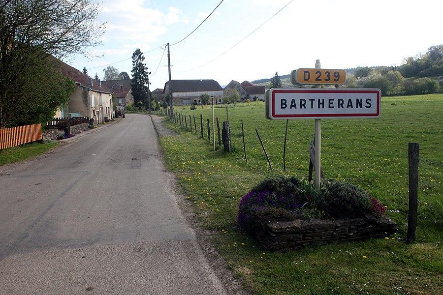 Entrée de Bartherans (Doubs).