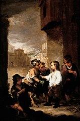 St. Thomas of Villanueva Dividing His Clothes Amoung Beggar Boys