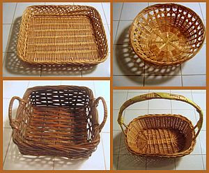 Four styles of basket