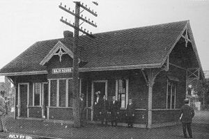 Wonderland (MBTA station) - Bath House station, probably in 1921