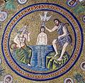 Battistero degli ariani, int, mosaico della cupola 08 battesimo di cristo.jpg