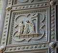 Battistero di firenze, porta sud di andrea pisano 03 Visitazione di Maria a Santa Elisabetta incinta.JPG